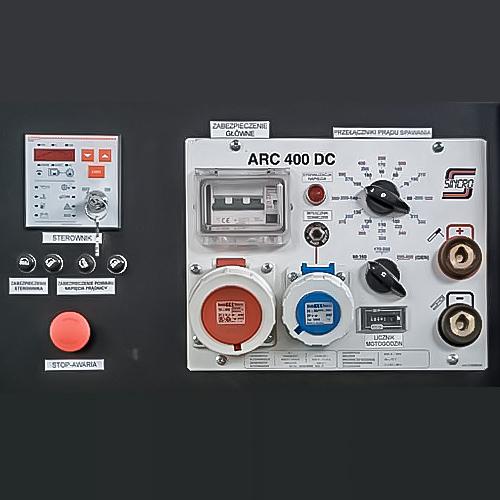 Agregat spawalniczy przewoźny AS 400 DC - panel sterujący