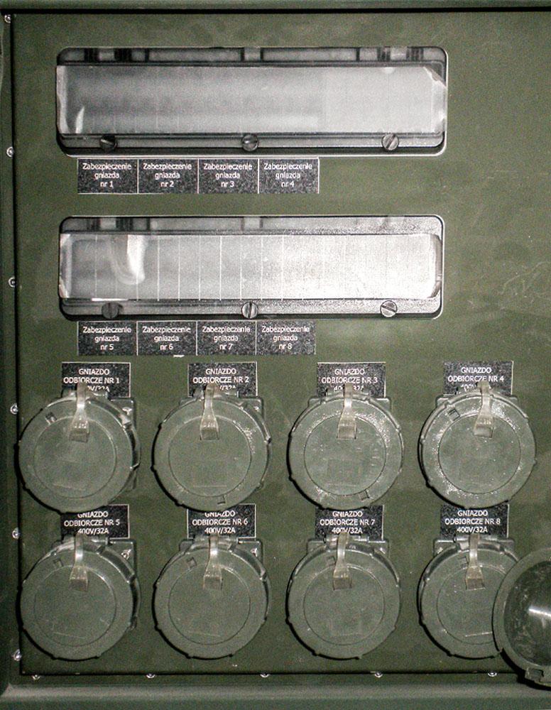 Kontener techniczny KT 20 - gniazda