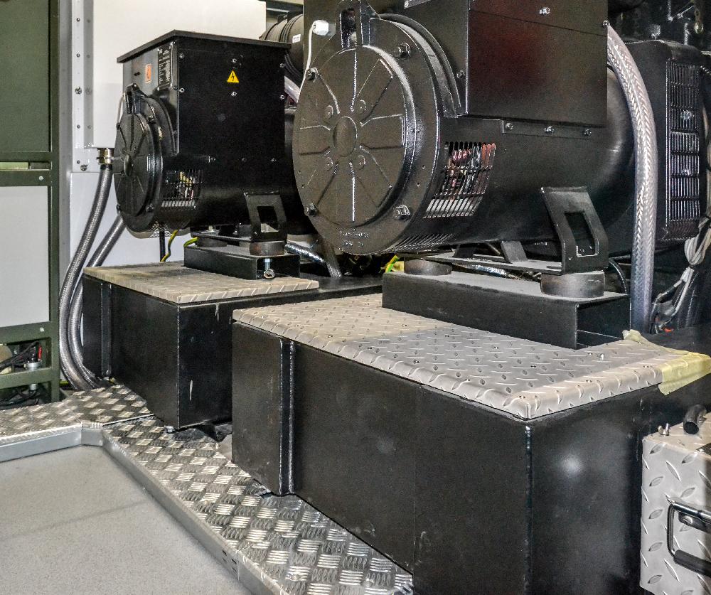 Kontener techniczny KT 20 - przedział techniczny