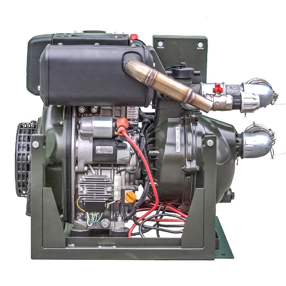 Motopompa MPD 50 RE - widok tylny