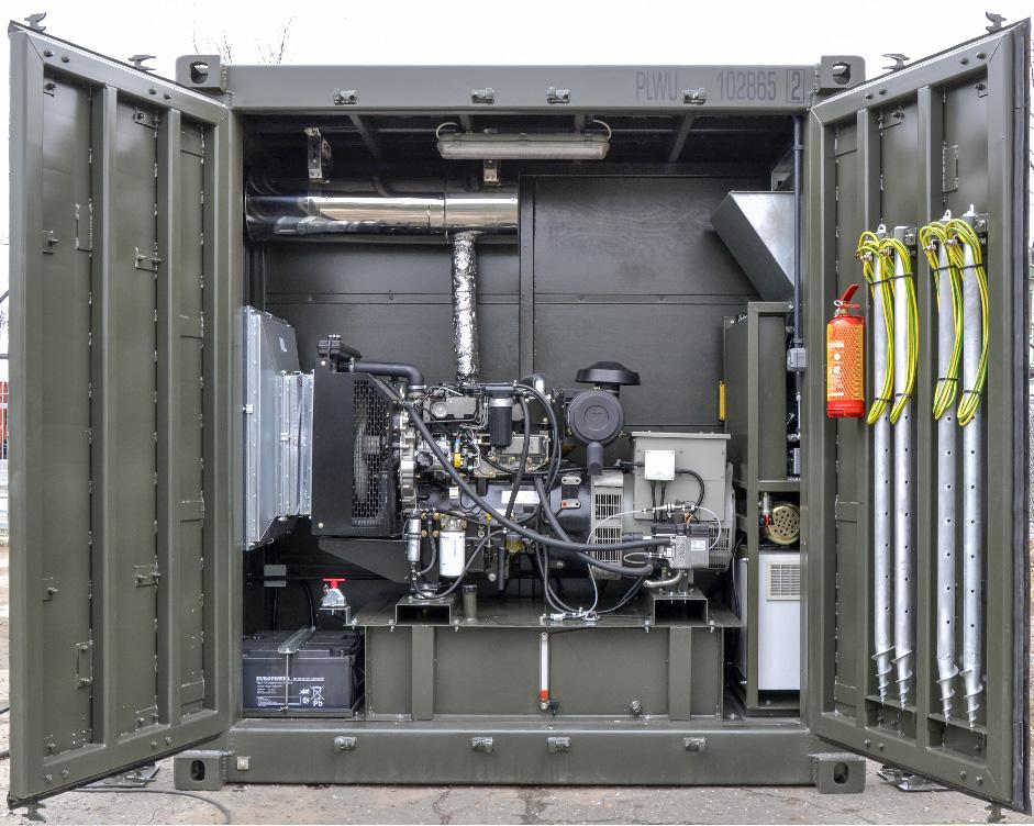 KL 20 - Kontener Logistyczny - Przedział techniczny