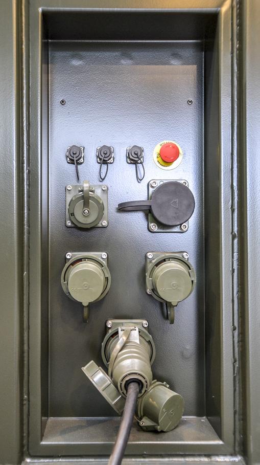 KMLI - Kontenerowe Mobilne Laboratorium Identyfikacyjne - Zespół gniazd