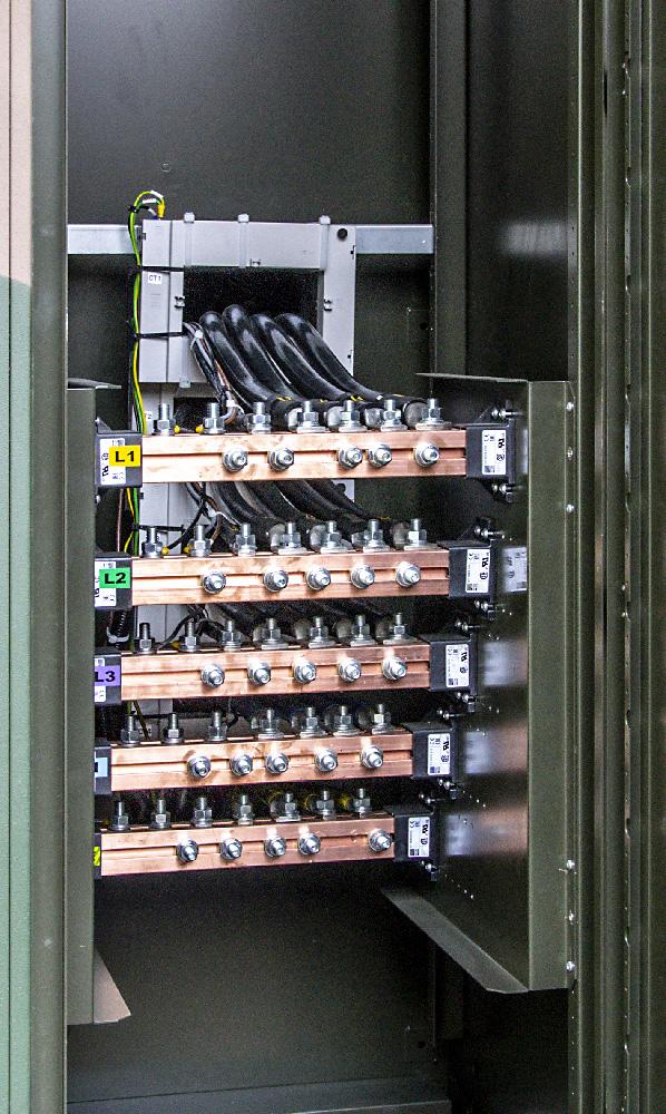 KOP 1000 - Kontenerowa Obciążnica Polowa - Szyny podłączeniowe