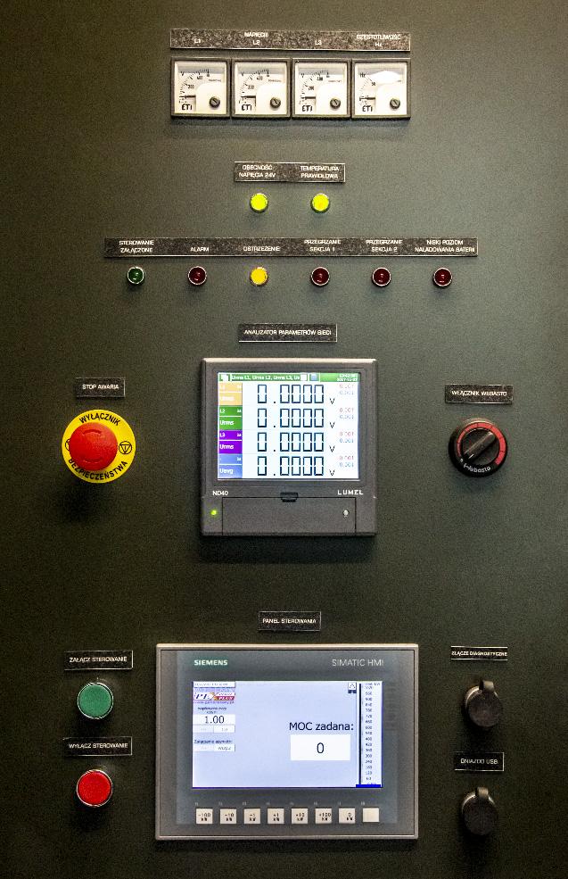 KOP 1000 - Kontenerowa Obciążnica Polowa - Panel sterowania