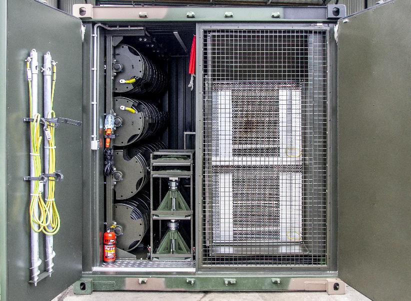 KOP 1000 - Kontenerowa Obciążnica Polowa - Przedział techniczny