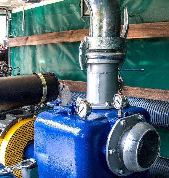 Motopompa wysokowydajna przewoźna MPP 300 - korpus pompy