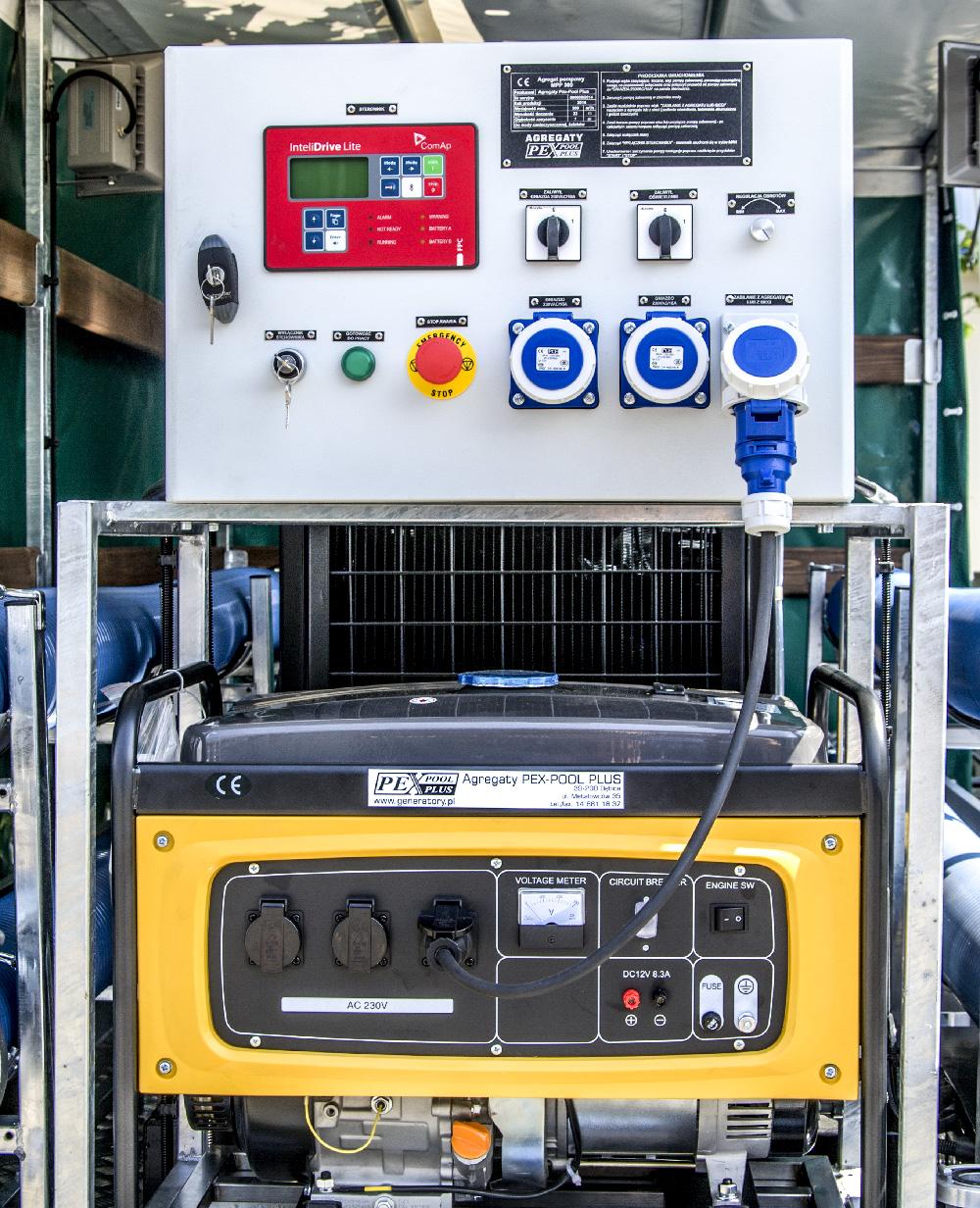 Motopompa wysokowydajna przewoźna MPP 300 - Panel sterowania