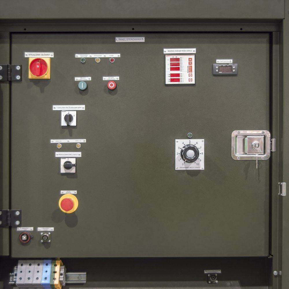 Obciążnica rezystancyjno-reaktancyjna ORR 120 - Panel sterujący