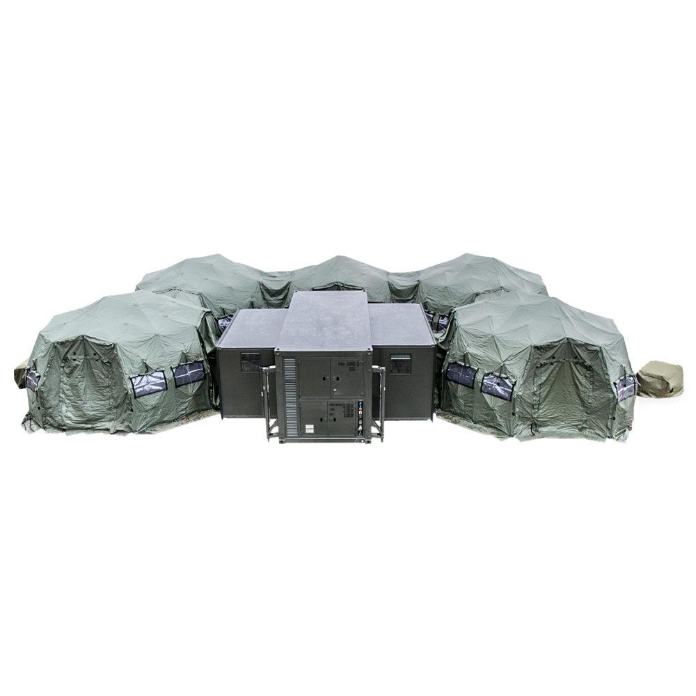 SOP I - Sala Opatrunkowa Poziomu I - Opcja z jednym kontenerem i i 5 namiotami