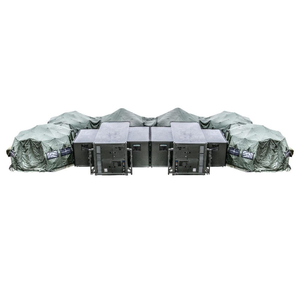 SOP I - Sala Opatrunkowa Poziomu I - Opcja z dwoma kontenerami i 6 namiotami