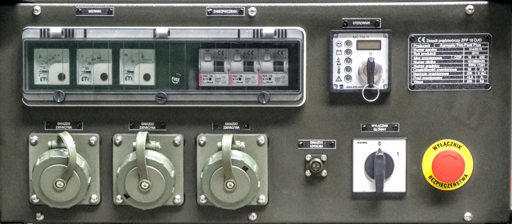 Zespół Prądotwórczy ZPP 10 DJO - Panel sterowania