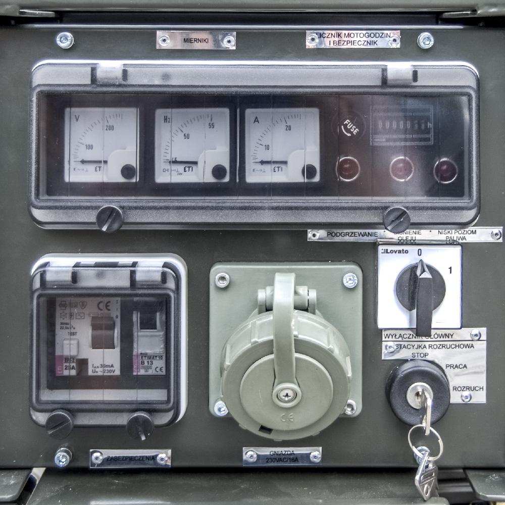 Zespół prądotwórczy ZPP 2.0 DJEO - Panel sterujący
