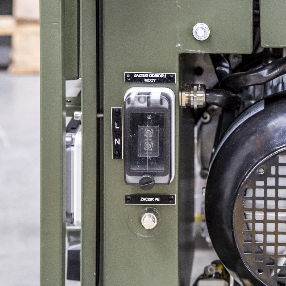 Zespół prądotwórczy ZPP 2.5 DJEO - Zaciski odbioru mocy