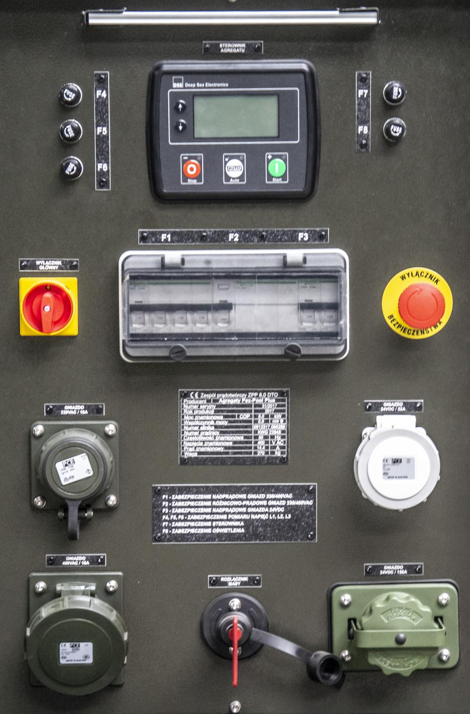 ZPP 8.0 DTO - Panel Sterowania