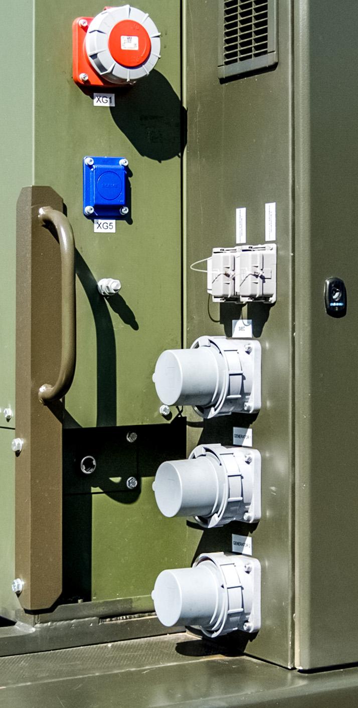 Zespół prądotwórczy ZPW 100 DTZ - Zespół gniazd