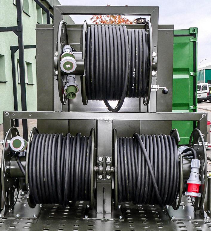 Zespół prądotwórczy ZPW 100 DTZ - Zwijaki kablowe