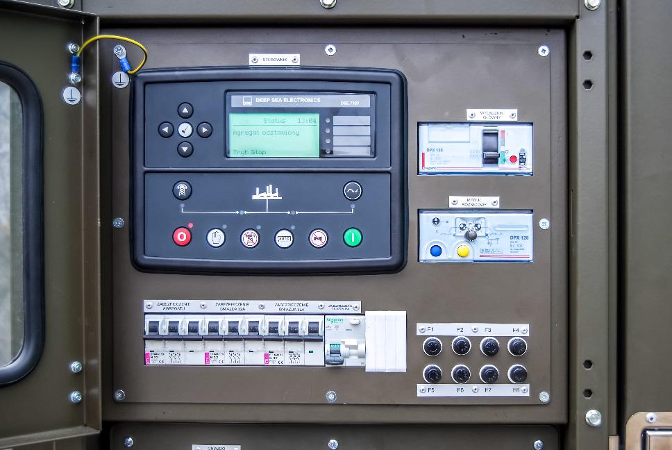 Zespół prądotwórczy ZPW 12 DTPEZ - Panel sterowania