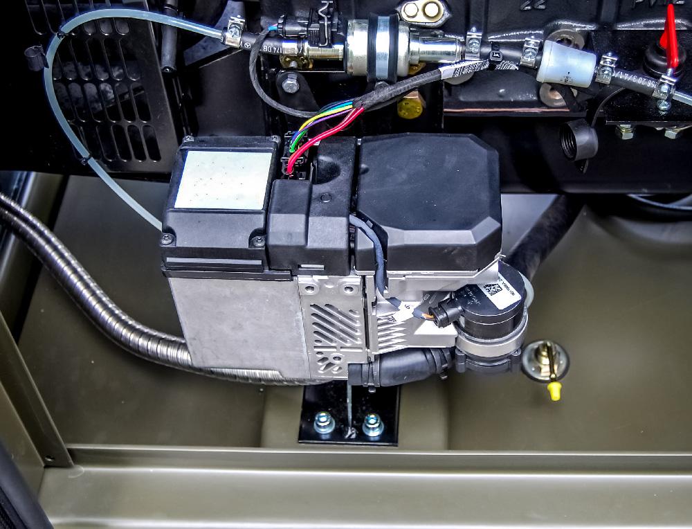 Zespół prądotwórczy ZPW 12 DTZ - podgrzewanie bloku silnika