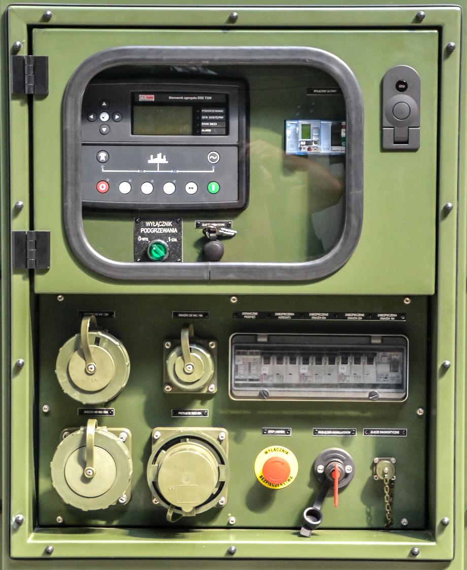 Zespół prądotwórczy ZPW 20 DTZ - Panel sterowania