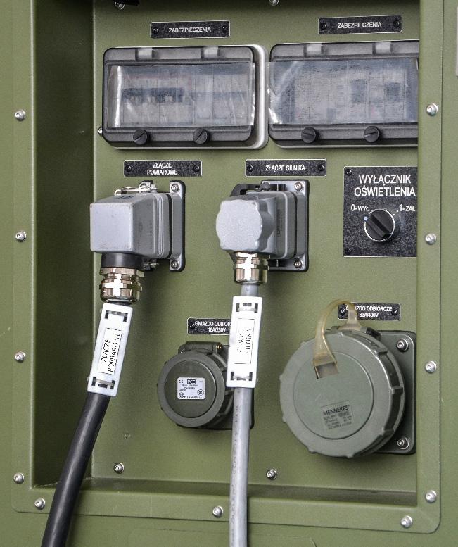 Zespół prądotwórczy ZPW 35 DTZ - Panel sterowania