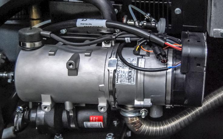 Zespół prądotwórczy ZPW 65 DTZ - Podgrzewanie bloku silnika