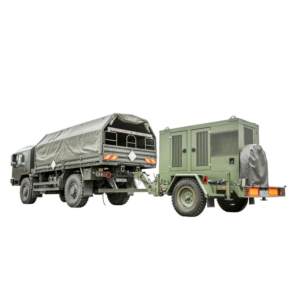 Zespół prądotwórczy ZPW 65 w pozycji transportowej