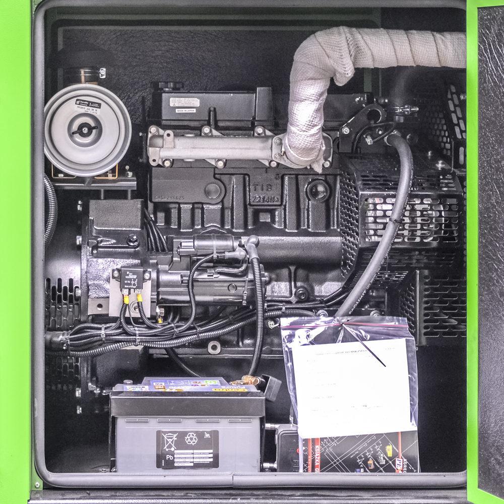 Generator prądotwórczy GPW 30 MZ - Widok silnika