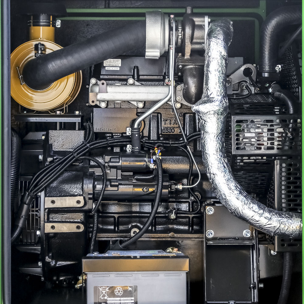 Generator prądotwórczy GPW 40 MZ - widok silnika
