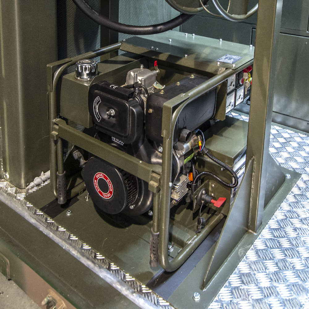 Kontenerowa Elektrownia Polowa KEP 1100 - Agregat potrzeb własnych