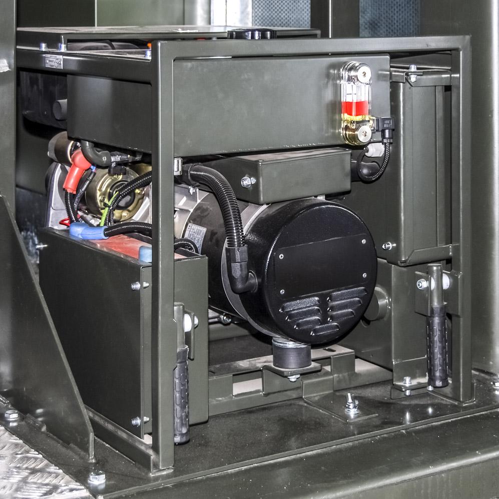 Kontenerowa Elektrownia Polowa KEP 125 - Agregat potrzeb własnych