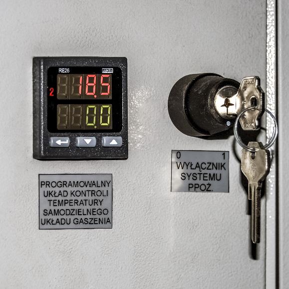 Kontenerowa Elektrownia Polowa KEP 125 - Automatyczny system gaszenia