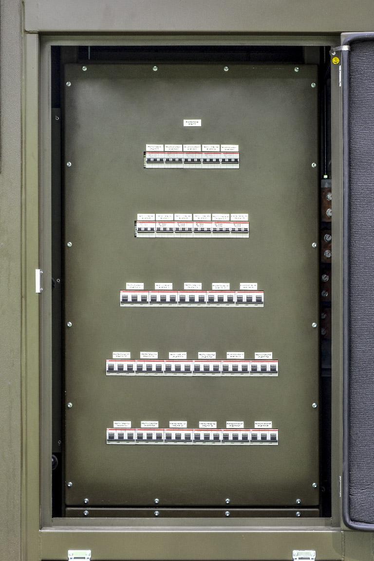 Kontenerowa Elektrownia Polowa KEP 1400 - Tablica zabezpieczeń