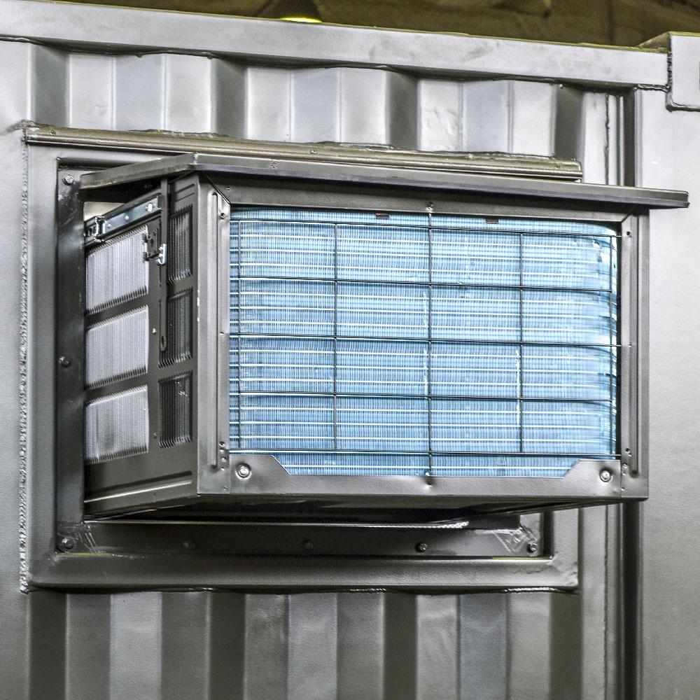 Kontenerowa Elektrownia Polowa KEP 250 - Klimatyzacja wysuwana