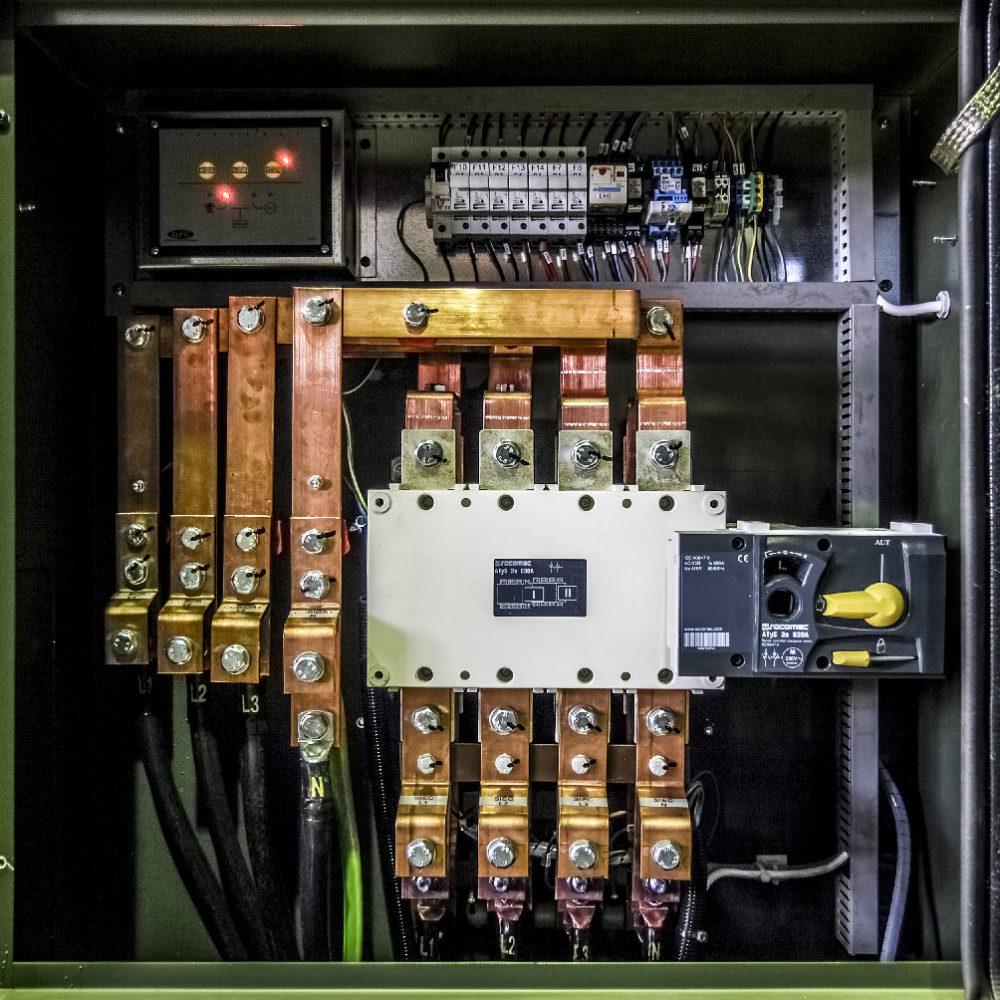 Kontenerowa Elektrownia Polowa KEP 2x125 - Szyny dawcze