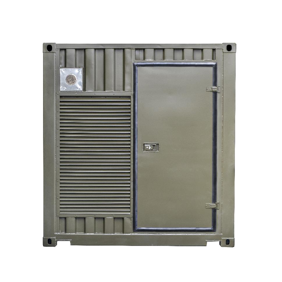 Kontenerowa Elektrownia Polowa KEP 2x250 - Widok z boku