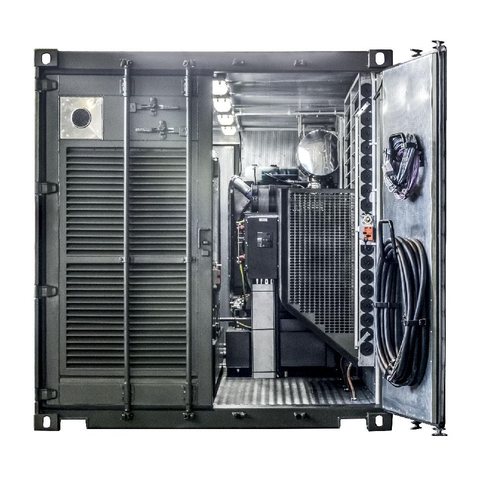 Kontenerowa Elektrownia Polowa KEP 2x250 - Widok przedziału technicznego