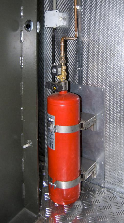 Kontenerowa Elektrownia Polowa KEP 300 - System gaśniczy