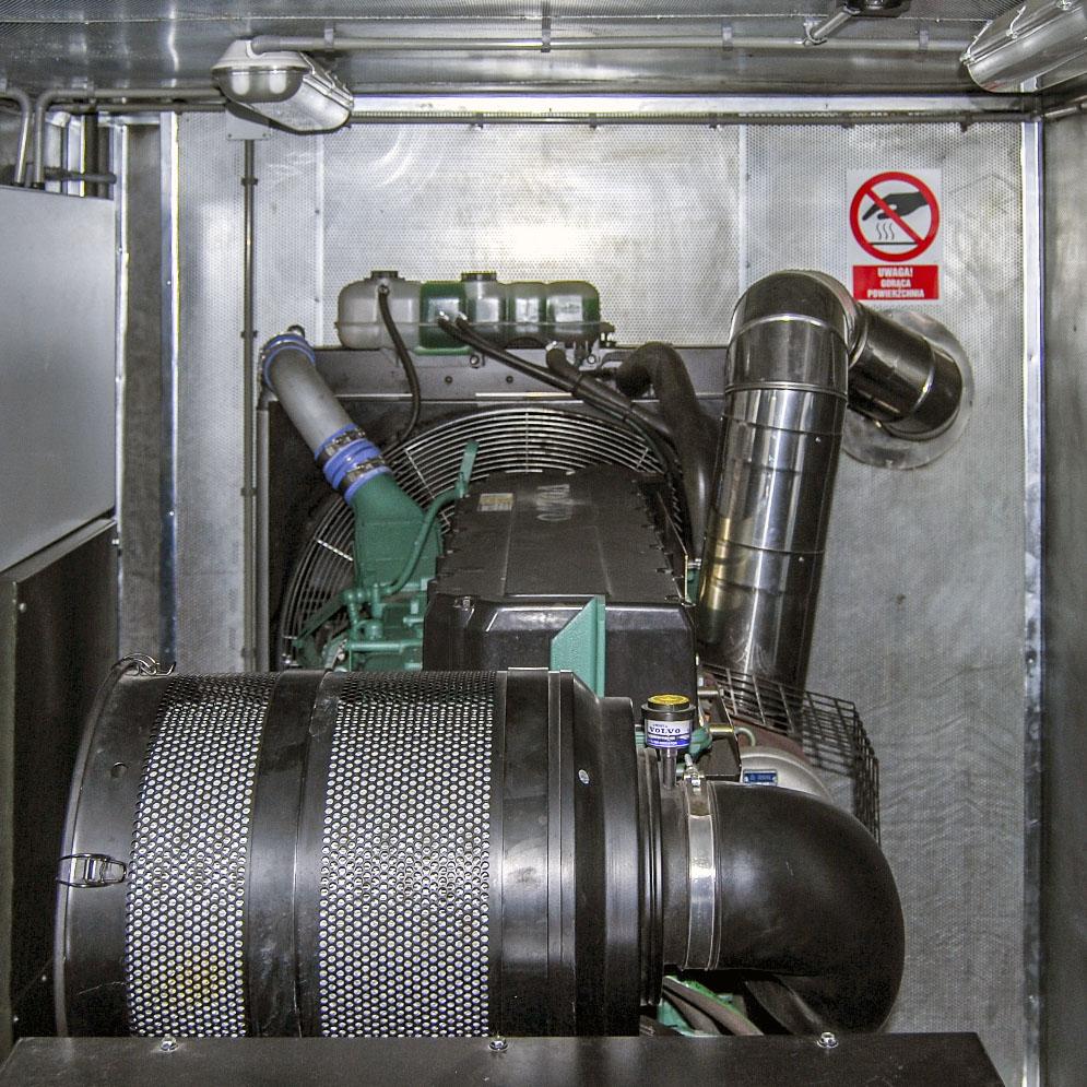 Kontenerowa Elektrownia Polowa KEP 300 - Przedział techniczny