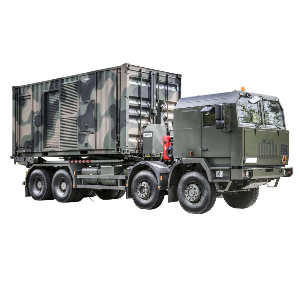 Kontenerowa Elektrownia Polowa KEP 300 - Transport na podwoziu samochodowym