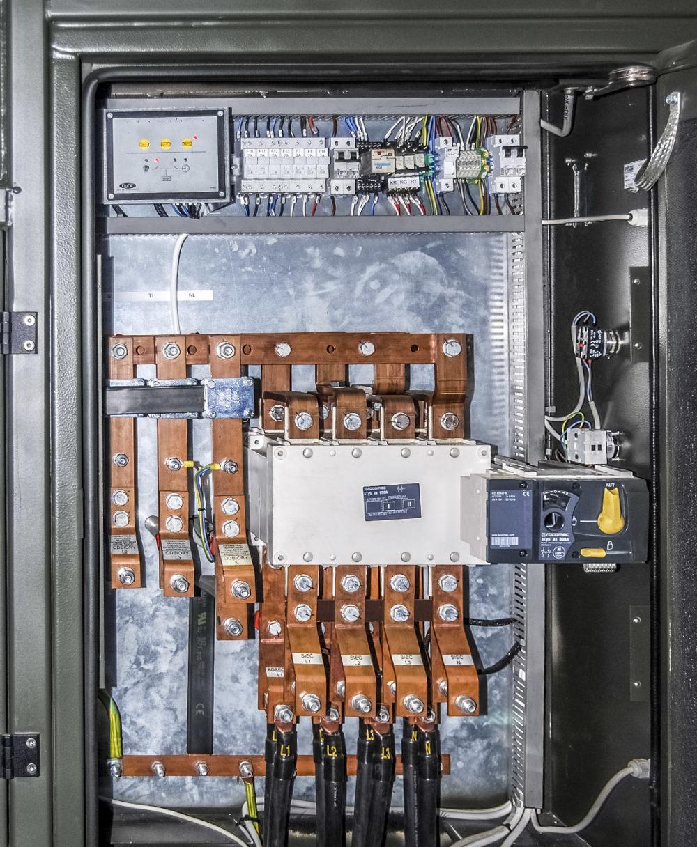 Kontenerowa Elektrownia Polowa KEP 500 - Szyny dawcze